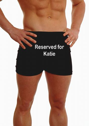 PERSONALISED MENS HIPSTER BOXER SHORTS - EMBROIDERED - ANY MESSAGE RESERVED FOR